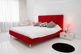All White Bed 60 Red Room Design Ideas All Rooms Photo Gallery