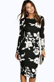 bodycon dresses sleeve midi bodycon dress boohoo