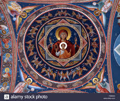 mural on the ceiling of the narthex outside porch of st george u0027s