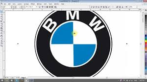 logo bmw vector creating bmw logo coreldraw tutorial youtube