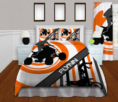 orange motocross kids bedding gray atv bedding motocross