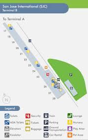 san jose airport gate map travelnerd terminal b