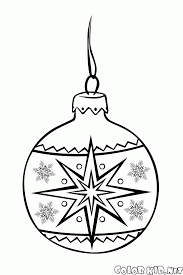 coloring page christmas tree ball