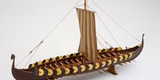 scale model of viking ship