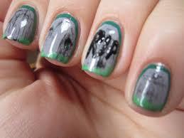 this is halloween nail art challenge graveyards misshollyberries