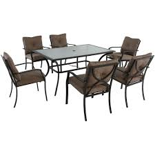 Copper Patio Table Cambridge 7 Steel Outdoor Dining Set With Copper