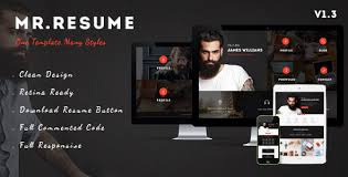 mr resume one page resume personal html template by userthemes