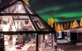 finland northern lights hotel igloo holidays in luosto hotel aurora northern lights by