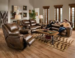 rustic living room furniture ideas with brown leather sofa excellent brown leather ikea recliner with rustic table on x area