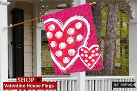 Valentine S Day Decor Outdoor by Decorative Valentine U0027s Day Outdoor Flags Flags On A Stick