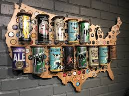 Beer Map Usa by Wood Usa Beer Can Map U2013 Beer Cap Maps