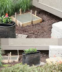 paver stone bench with concrete foundation