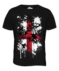 English Flag England St George Cross Abstract Print Mens T Shirt Top English