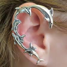 ear wrap dolphin ear wrap silver dolphin ear cuff handmade