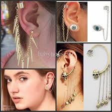 ear cuff earrings 2017 2012new ear cuff earrings 4designs mix cartilage piercing