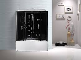 black profiles enclosed bath shower unit complete shower stall kits