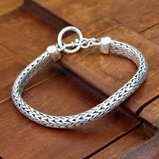 solid sterling silver mens bracelet images Mens bracelets men 39 s bracelet collection at novica jpg