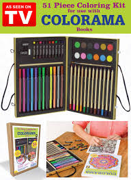 colorama 51 piece coloring kit as seen on tv carolwrightgifts com