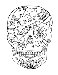 day of the dead coloring pages for adults skull halloween cartoons