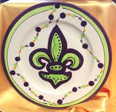 mardi gras gifts fleur de lis mardi gras plate gift shop online