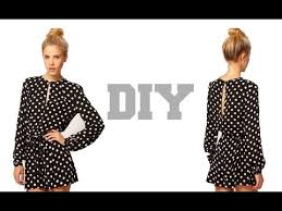 jumpsuit stitching pattern diy long sleeves jumpsuit shorts easy sewing youtube