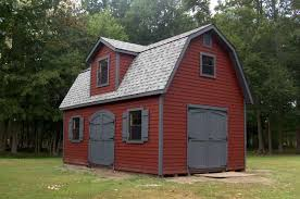 a premium series dutch barn with lp siding dormer with window