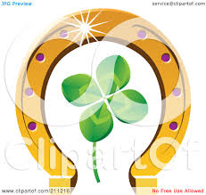royalty free rf clipart illustration of a four leaf clover and