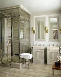 restoration hardware bathroomserene bathroom with detailing and