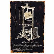 guillotine canvas print decorations u0026 props