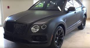 matte white bentley bentley bentayga stealth edition is the first one with a matte