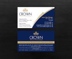 Crown Business Cards Elegant Upmarket Business Card Design For Liz Metzger By