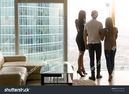 rear view three business people standing stock photo 626698784