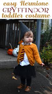 easy diy witch hermione toddler halloween costume sisters