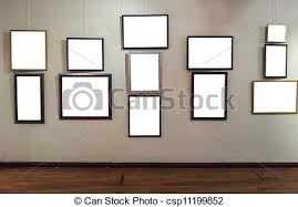 blank gallery wall blank photo frames on gallery wall stock images search stock