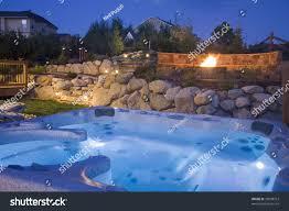 awesome backyard tub fire pit stock photo 38998312 shutterstock