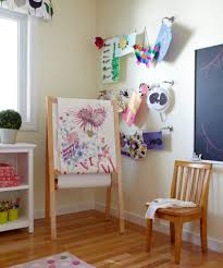 kid art easel kids transitional with easel contemporary wall murals