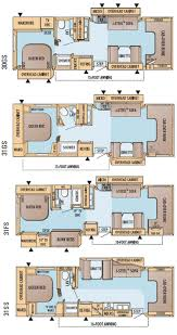 Travel Trailers With Bunk Beds Floor Plans 2016 Roamer Travel Trailers By Highland Ridge Rv Camper Floor
