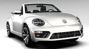 volkswagen white beetle vw beetle cabriolet 2017 by creator 3d 3docean