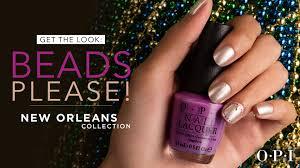 opi new orleans nail art tutorial beads please youtube