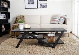 amazon com iohomes finley rectangular coffee table black