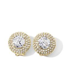 stud ear joan boyce joan s own and cz pavé stud earrings