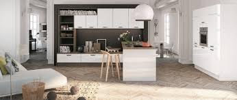 etude cuisine cuisine aménagée magnolia brillant cuisines avec ilot ou