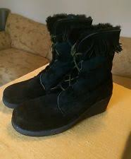 s wedge boots canada maxine of canada black leather jasper boots size 7 xxw ebay