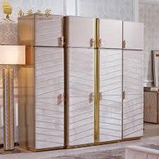 Door Storage Cabinet Four Door Wardrobe Clothes Storage Cabinet Bedroom Set Bedroom