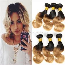 short bobs with bohemian peruvian hair short wavy bob style hair weaves two tone color 1b 27 honey blonde