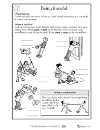 here u0027s a handout for k 1 on forces forces and motion