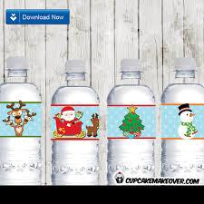 Decorate Water Bottle Christmas Centerpieces Printable Decorations U2013 Instant Download