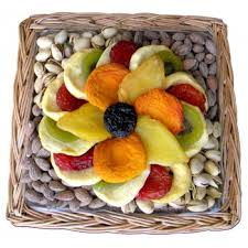 Sympathy Fruit Baskets Dried Fruit U0026 Nut Combination Wicker Tray 16 Oz Shiva
