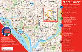 washington dc trolley map circulator map and information guide washington d c circulator
