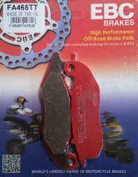 ebc fa465tt brake pads front honda crf250 me supermoto 14 15